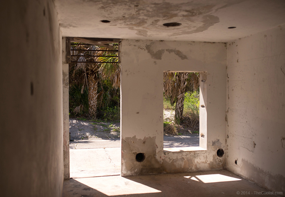 Abandoned Beach Forts of Florida - Battery Interior