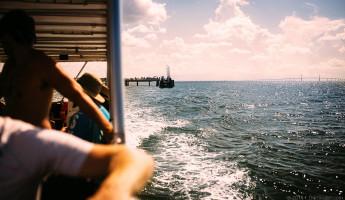 Abandoned Beach Forts of Florida - ferry to Egmont Key
