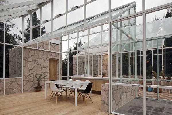 Glass Conservatory House by Lorenzo Alvarez Arquitectos 9