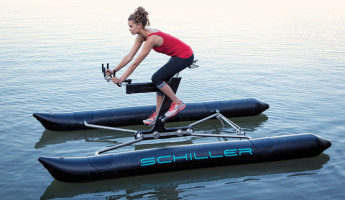 Schiller X1 Water Bike 1 345x200 The Schiller Sport X1 Water Bike Brings Cycling to a New Terrain