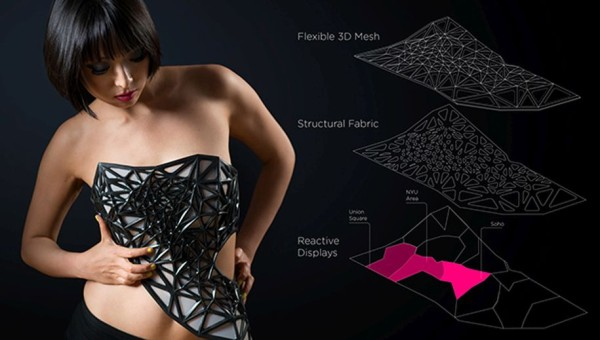 Wearable Tech - xpost 3D printed dress 1