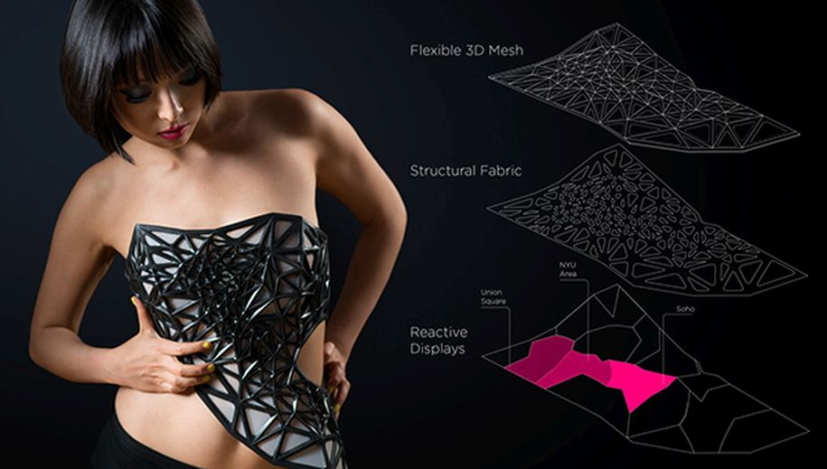 Wearable Tech – xpost 3D printed dress 1