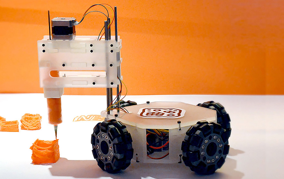 graphic relating to 3d Printable Robot referred to as The 3Dbot Robot 3D Printer Requires 3D Printing Upon the Highway