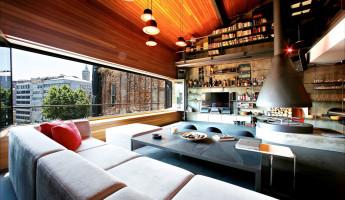 Contemporary-Rustic Karakoy Loft Overlooks Modern Istanbul 1