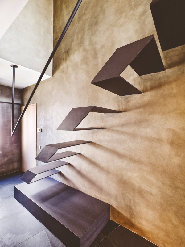 Contemporary-Rustic Karakoy Loft Overlooks Modern Istanbul 6