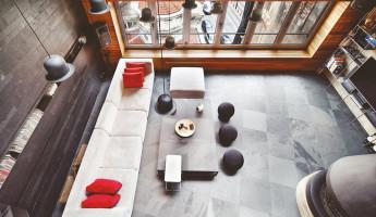Contemporary-Rustic Karakoy Loft Overlooks Modern Istanbul 8