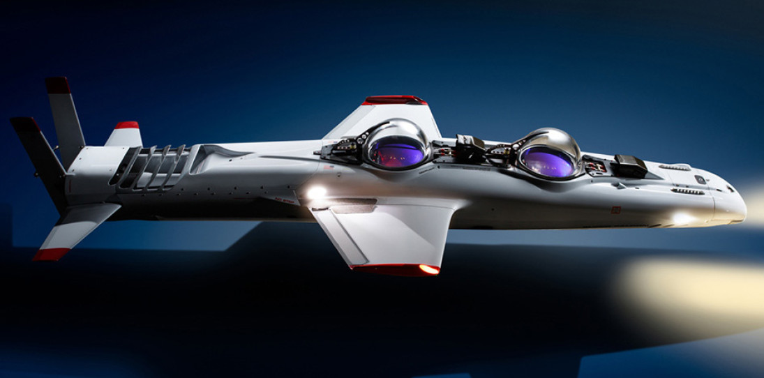Deepflight Submarine Super Falcon Mark II for the Bond Villain in You