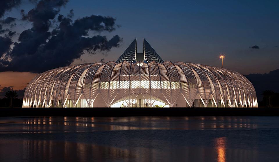 Florida Polytechnic University by Santiago Calatrava - South Entrance Pond Reflection