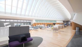 Florida Polytechnic University by Santiago Calatrava - student center