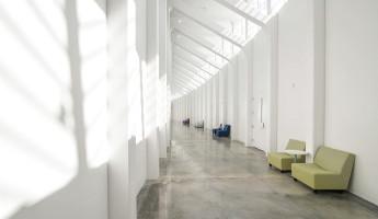 Florida Polytechnic University by Santiago Calatrava - hallway light