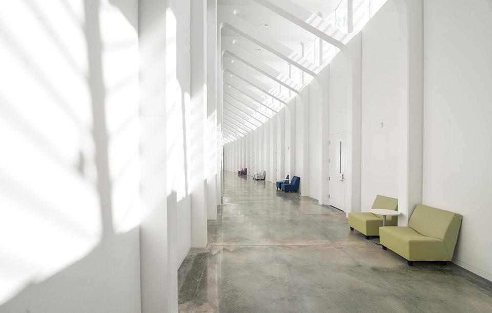 Florida Polytechnic University by Santiago Calatrava - Interior Hallway