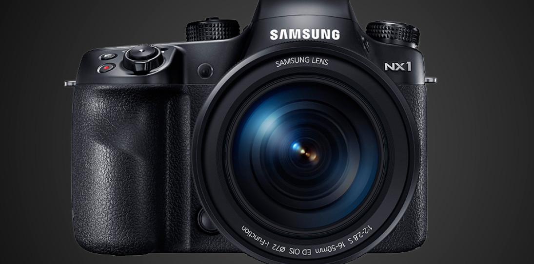 Samsung NX1 DSLR Front Angle