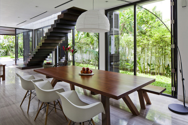 Thao Dien House by MM House Architects 18 600x400 Green Walled Thao Dien House by MM++ Architects