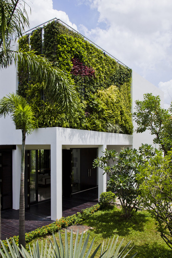 Green Walls of the Thao Dien House by MM++ House Architects 4