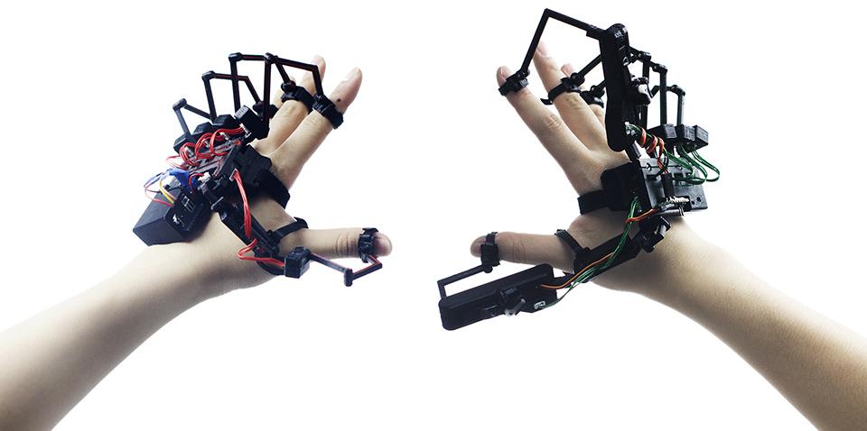 Dexmo Virtual Reality Glove Brings Feeling To Virtual Worlds