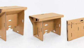 Refold Cardboard Standing Desk 1