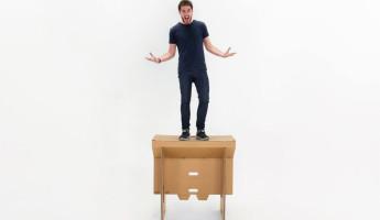 Refold Cardboard Standing Desk 3