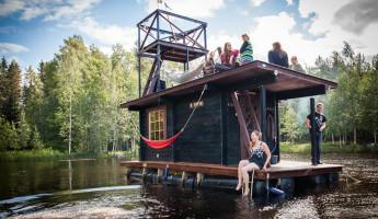 Saunalautta Floating Sauna Houseboat