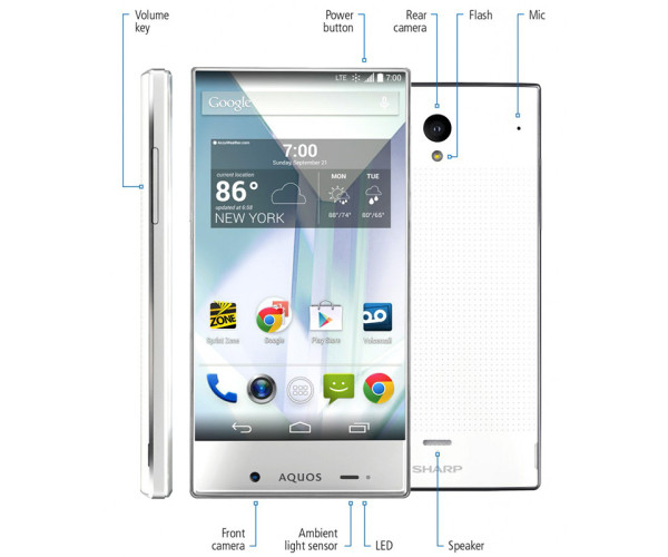 Sharp Aquos Crystal Smartphone 3 600x500 Sharp Aquos Crystal Smartphone is an Edgeless Beauty