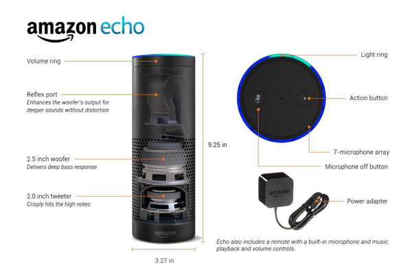 Amazon Echo Smart Speaker 4 600x400 Amazon Echo Might Be The Smartest Speaker Ever Created