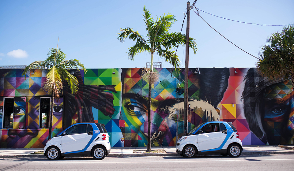 Car2Go—Vehicle—Parked-by-Wynwood-Walls