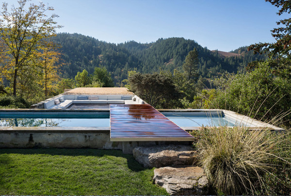 Napa Valley House by Eliot Lee and Eun Lee 3 600x405 Napa Valley House by Eliot Lee and Eun Lee