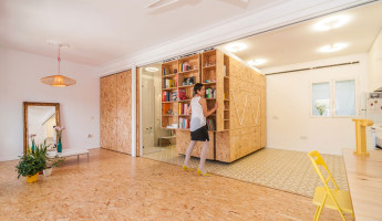 Tiny Transforming Apartment by PKMN Architectures 2