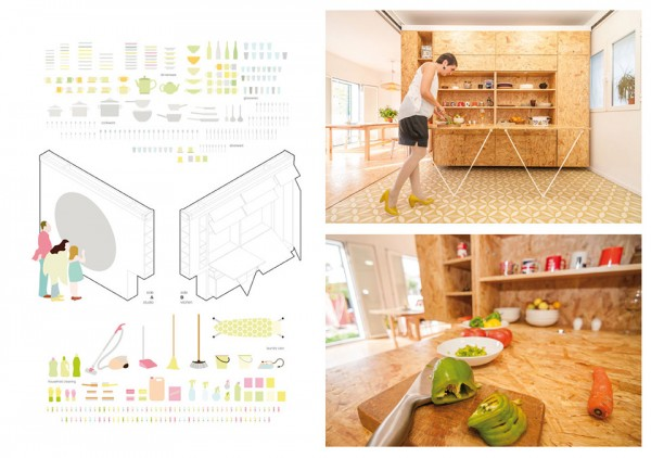 Tiny Transforming Apartment by PKMN Architectures 9 600x422 This Tiny Transforming Apartment Will Change the Way You Think About Small Spaces