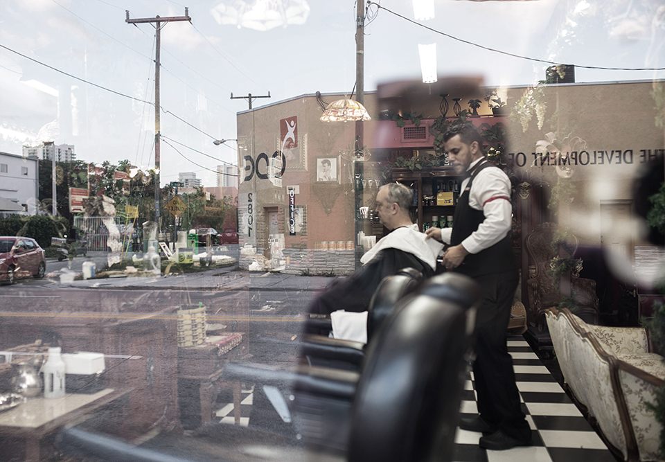 Wynwood Street Scene - Barber Shop