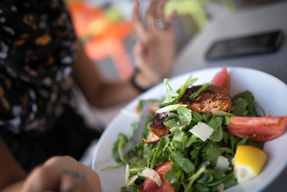 Wynwood Dining - Salmon Arugula Salad