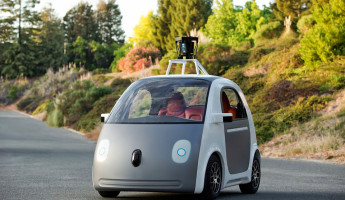 Google Self-Driving Car mockup