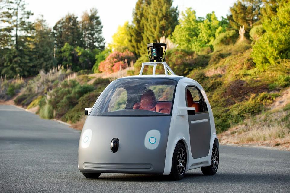 Google Self-Driving Car mockup