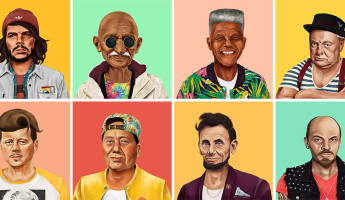 Hipstory Hipster World Leaders by Amit Shimoni hero