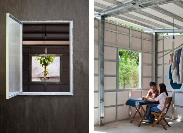 Vo Trong Nghia S House 3 9 600x438 Amazing Prefab Tiny House Can Be Assembled in Just 3 Hours