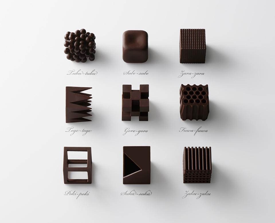Nendo Chocolatexture Box of Chocolates Maison et Objet 1