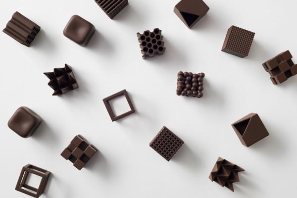 Nendo Chocolatexture High Design Chocolate Candies