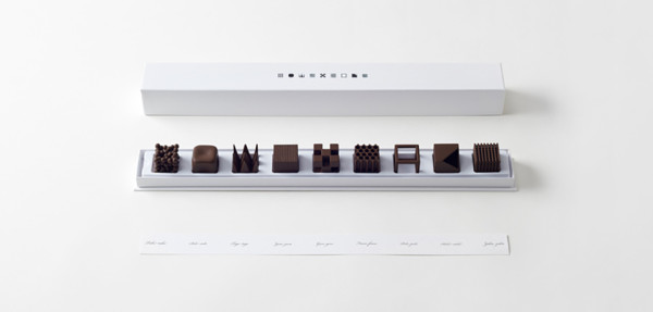 Nendo Chocolatexture Box of Chocolates Maison et Objet 12 600x287 Are These Sculptural Candies The Most Beautiful Chocolates Ever Created?
