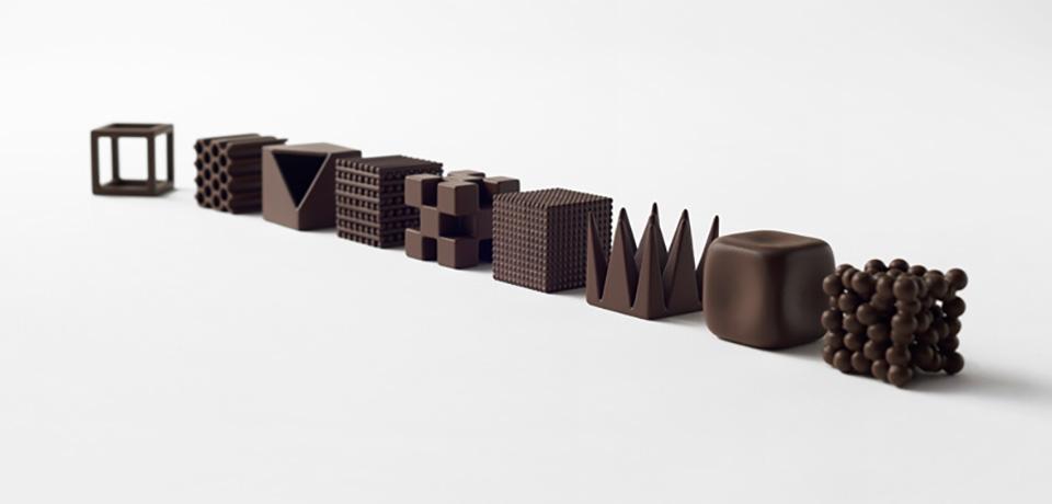Nendo Chocolatexture Box of Chocolates Maison et Objet 9