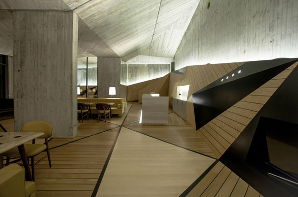 Ulus Savoy Clubhouse by Autoban 5 600x398 This Cool Concrete Cavern is an Exclusive Clubhouse in Istanbul