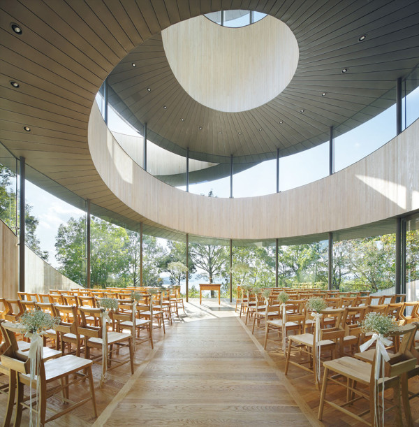 Ribbon Chapel by NAP Architects 12 600x611 This Spiraling Stairway to Heaven Could Be The Worlds Best New Wedding Chapel