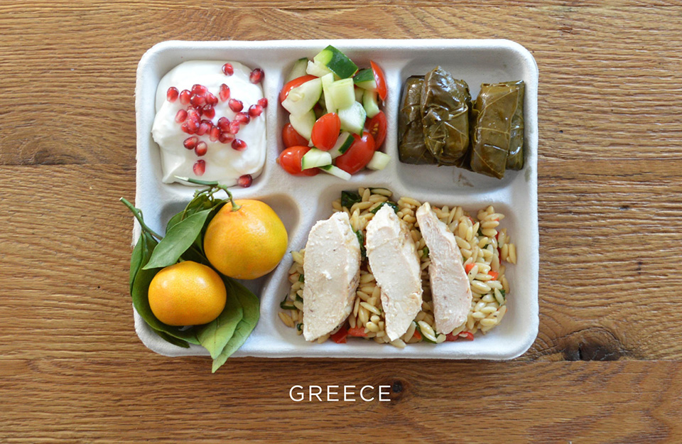 School Lunches Around the World – Food Photography by Sweetgreen – Greece
