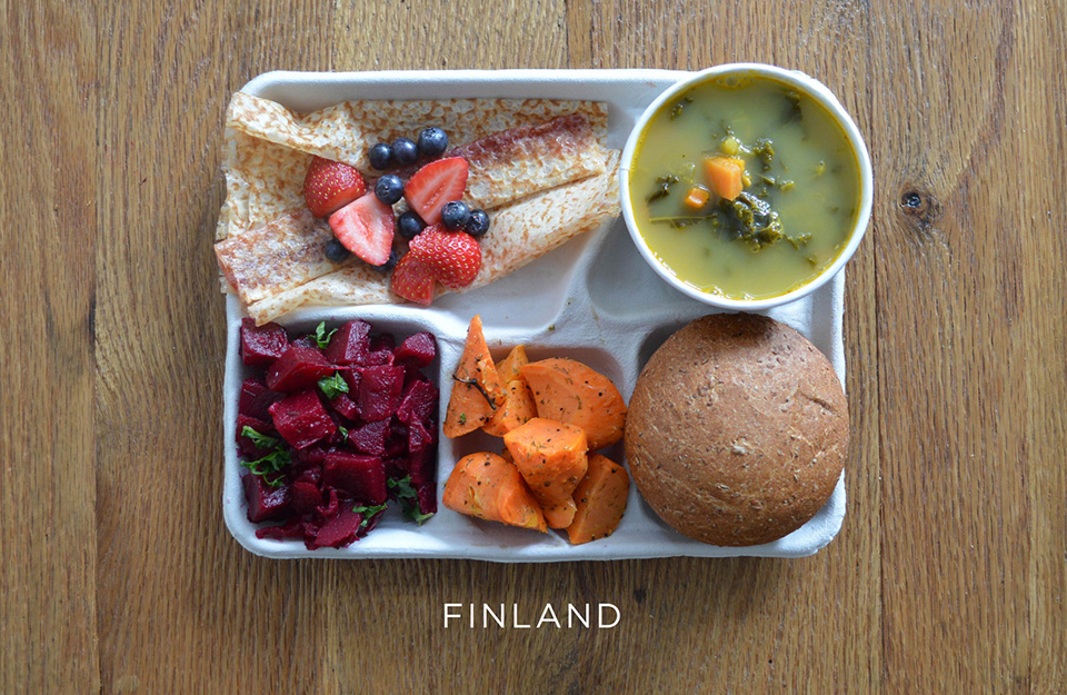 School Lunches Around the World – Food Photography by Sweetgreen – Finland