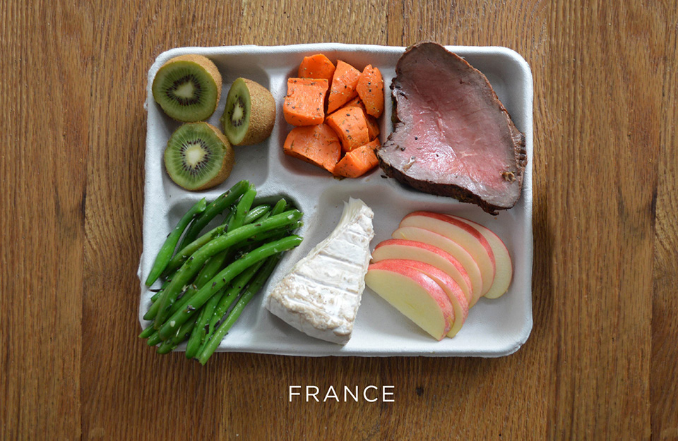 School Lunches Around the World – Food Photography by Sweetgreen – France