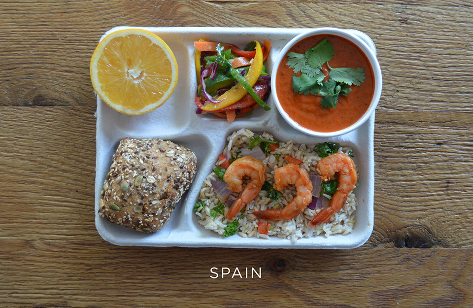 School Lunches Around the World – Food Photography by Sweetgreen – Spain