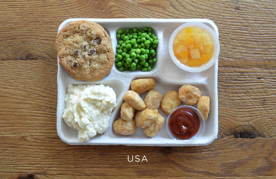 School Lunches Around the World – Food Photography by Sweetgreen – USA