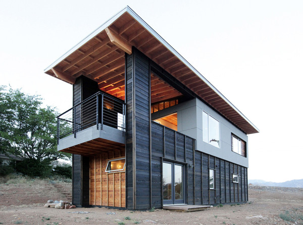 510 Cabin by Hunter Leggitt Studio 1 600x445 This Student Built Modern Cabin is the Perfect California Retreat