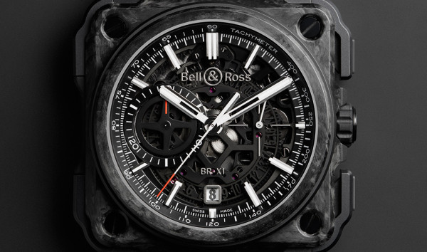 Bell and Ross X1 Carbon Forge Watch 5 600x354 Bell and Ross X1 Carbon Forge Watch is Aircraft Grade Awesome