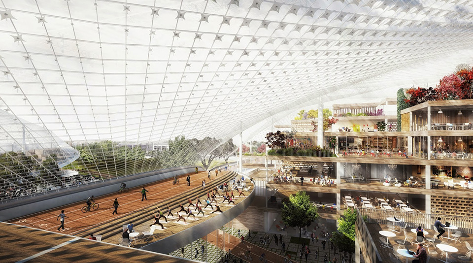 Google New Headquarters Thomas Heatherwick Bjarke Ingels BIG Google North Bayshore Campus 3