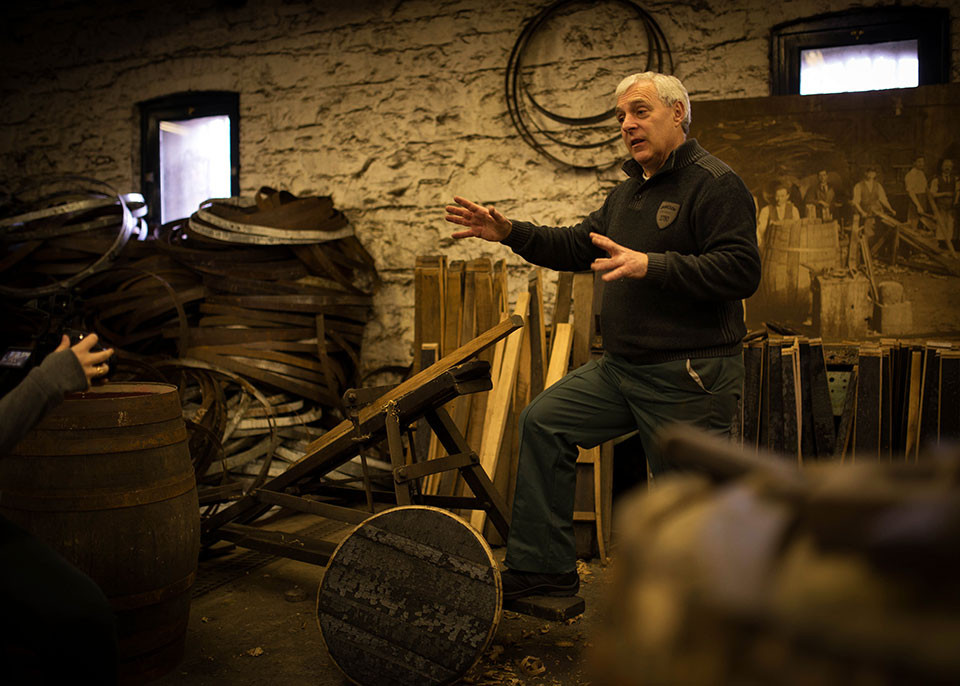 Ireland Travel St. Patrick's Day - Jameson Midleton Distillery - Cooper Ger Buckley 1 © Seamus Payne