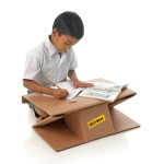 Cardboard Design for Good: Aarambh Helpdesk Cardboard Desk 2